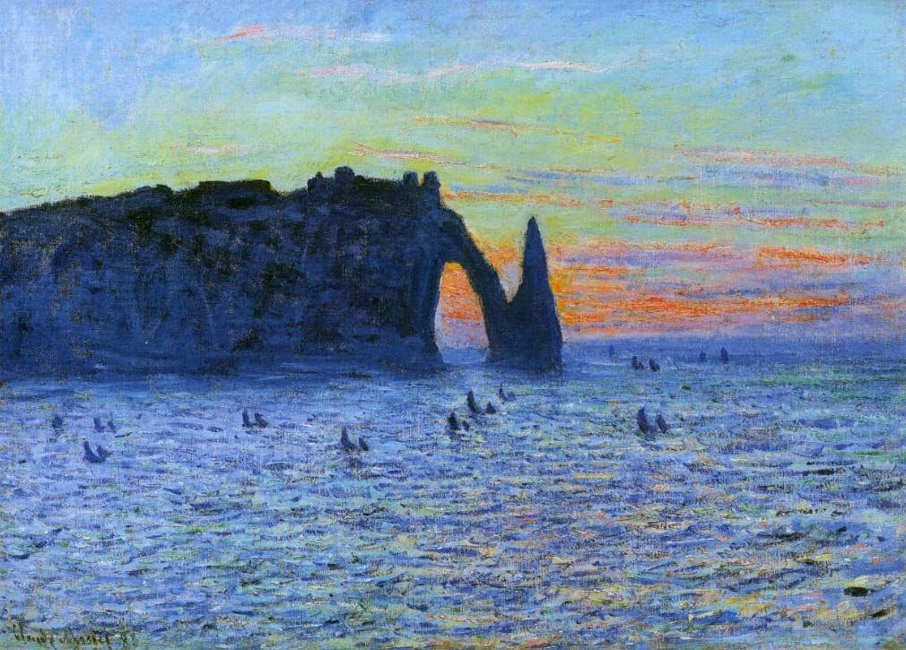 Painting of Claude Monet - Etretat